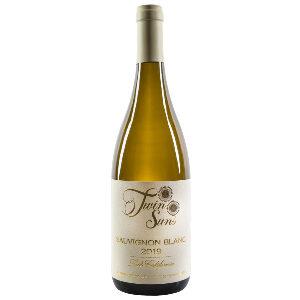 a bottle of 2019 twin suns sauvignon blanc
