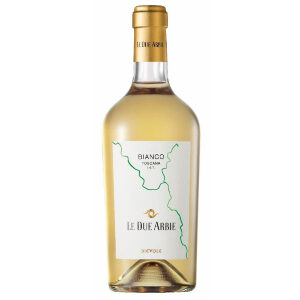 a bottle of 2018 bianco le due arbie igt toscana